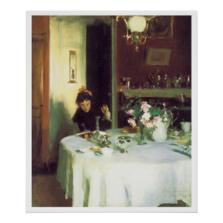 The Breakfast Table, 1884 John Singer Sargent Poster