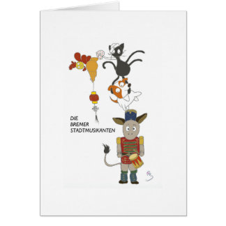 The Bremen Town Musicians Card