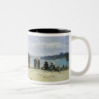 The Breton Fishermen's Wives, 1870-73 (oil on pane Two-Tone Coffee Mug