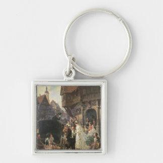 The Bride, 19th century Silver-Colored Square Keychain