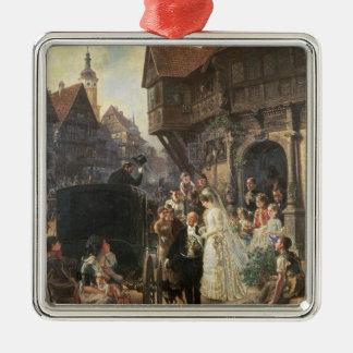 The Bride, 19th century Silver-Colored Square Ornament