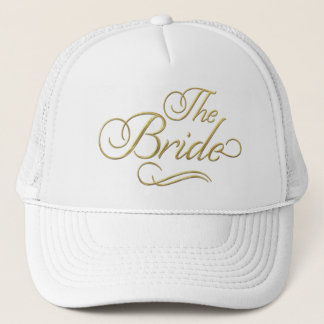 The Bride Baseball Hat Gold