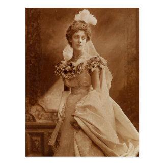 The Bride Beautiful Postcard
