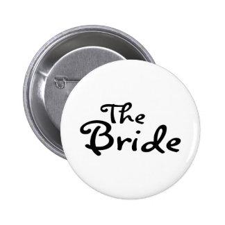 The Bride Black Pinback Button