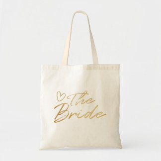 The Bride - Gold faux foil tote bag