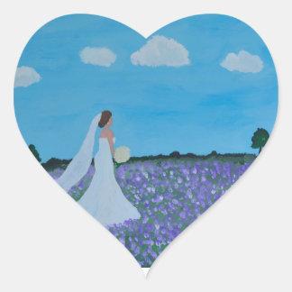 The Bride Heart Sticker
