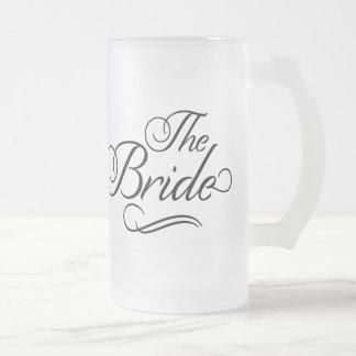 The Bride Honeymoon Beer Mug Black