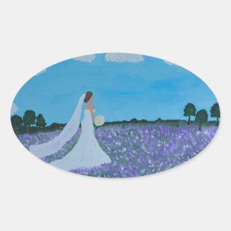 The Bride Oval Sticker