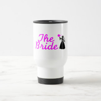 The Bride Pink and Black Bride Coffee Mugs