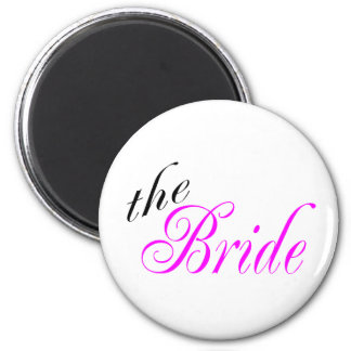 The Bride Pink and Black Fridge Magnets