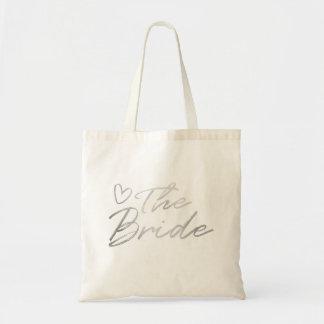 The Bride - Silver faux foil tote bag