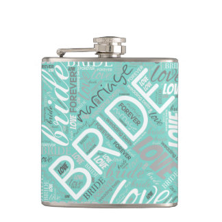 The Bride Word Cloud White ID253 Flask