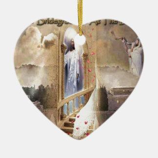 The Bridegroom is at the Door Ceramic Heart Ornament