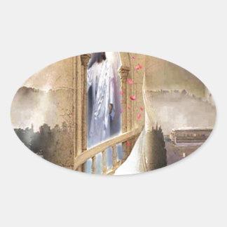 The Bridegroom is at the Door Oval Sticker