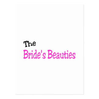 The Brides Beauties Black and Pink Postcard