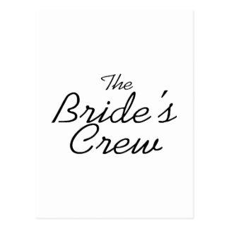 The Brides Crew Post Cards