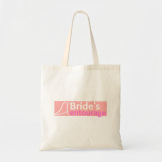 The Bride's Entourage with Angel Wings Budget Tote Bag