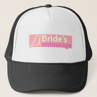 The Bride's Entourage with Angel Wings Trucker Hat