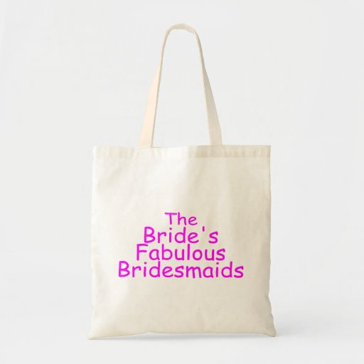 The Brides Fabulous Bridesmaids (Pink) Bags
