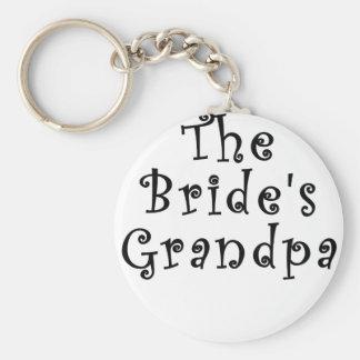 The Brides Grandpa Keychain
