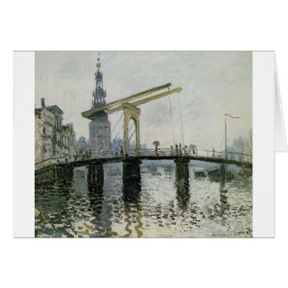 The Bridge, Amsterdam by Claude Monet Card