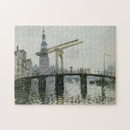 The Bridge, Amsterdam Monet Fine Art Jigsaw Puzzle