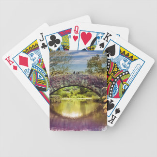 The bridge bicycle playing cards