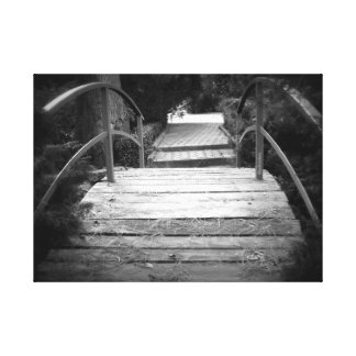 The Bridge Black And White Canvas Print