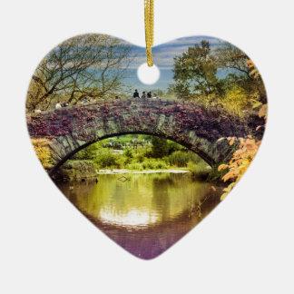 The bridge ceramic heart ornament