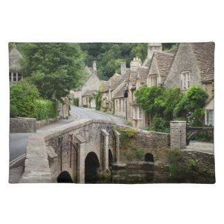 The bridge in Castle Combe, UK placemat