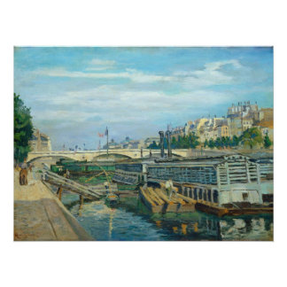 The Bridge of Louis Philippe, 1875 (oil on canvas) Perfect Poster