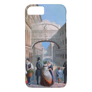 The Bridge of Sighs, Venice, engraved by Brizeghel iPhone 7 Case