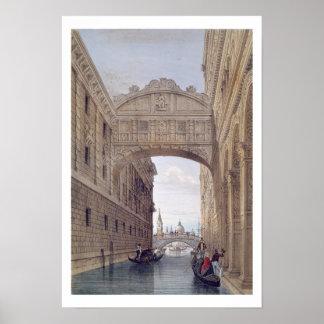 The Bridge of Sighs, Venice, engraved by Lefevre ( Poster