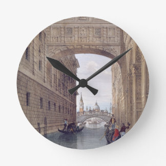 The Bridge of Sighs, Venice, engraved by Lefevre ( Round Clock