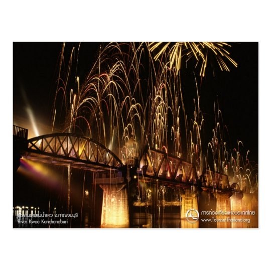 The Bridge over the River Kwai (Night View) Postcard