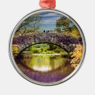 The bridge Silver-Colored round ornament