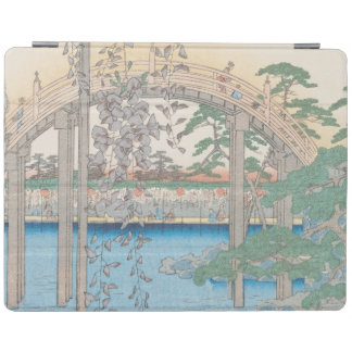 The Bridge with Wisteria or Kameido Tenjin iPad Cover