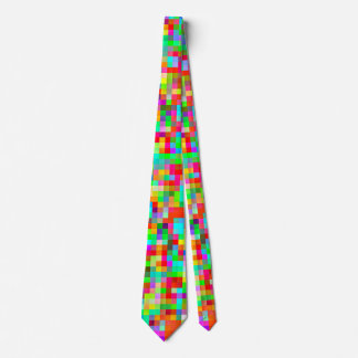 The Brightest Most Colorful Pixel Pattern Tie