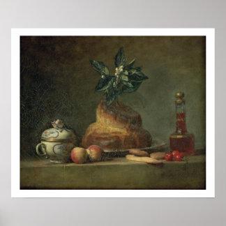 The Brioche or The Dessert, 1763 (oil on canvas) Poster