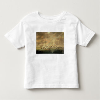 The British and American Fleets Engaged on Lake Bo Toddler T-shirt