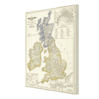 The British Isles from 1066 to 1485 Stretched Canvas Print