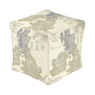 The British Isles from 1066 to 1485 Cube Pouf