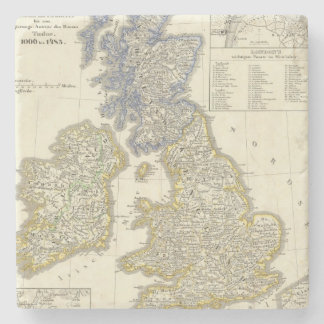 The British Isles from 1066 to 1485 Stone Beverage Coaster