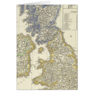 The British Isles from 1066 to 1485 Greeting Card