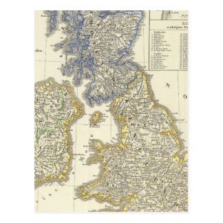 The British Isles from 1066 to 1485 Postcard