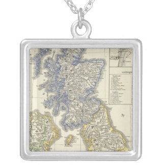 The British Isles from 1066 to 1485 Square Pendant Necklace