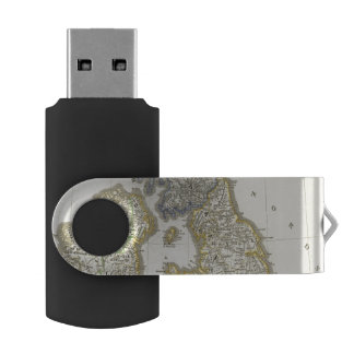 The British Isles from 1066 to 1485 Swivel USB 2.0 Flash Drive