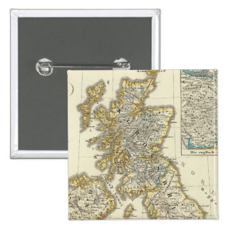 The British Isles since 1485 2 Inch Square Button