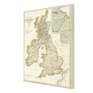 The British Isles since 1485 Stretched Canvas Print
