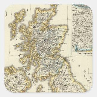 The British Isles since 1485 Square Sticker